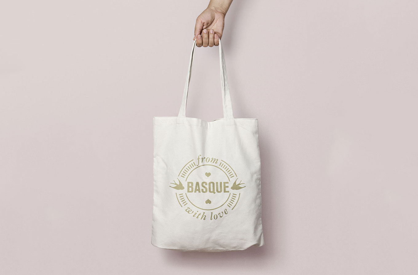 hand holding from basque with love tote