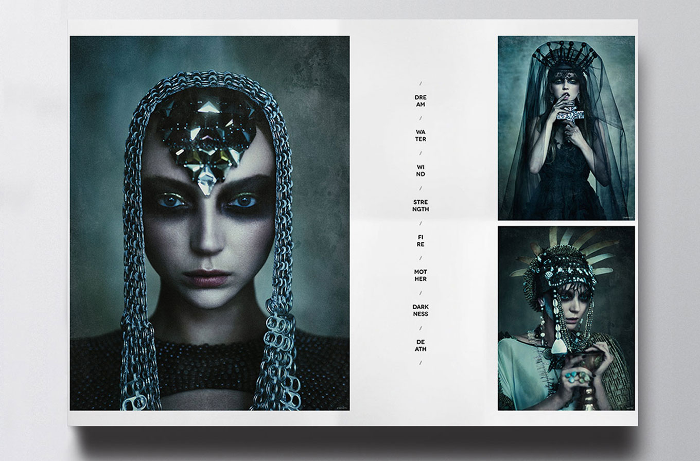 mock up of Christian Blanchard photographer art exhibition catalogue