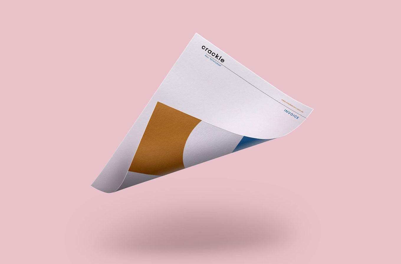 crackle corn letterhead design