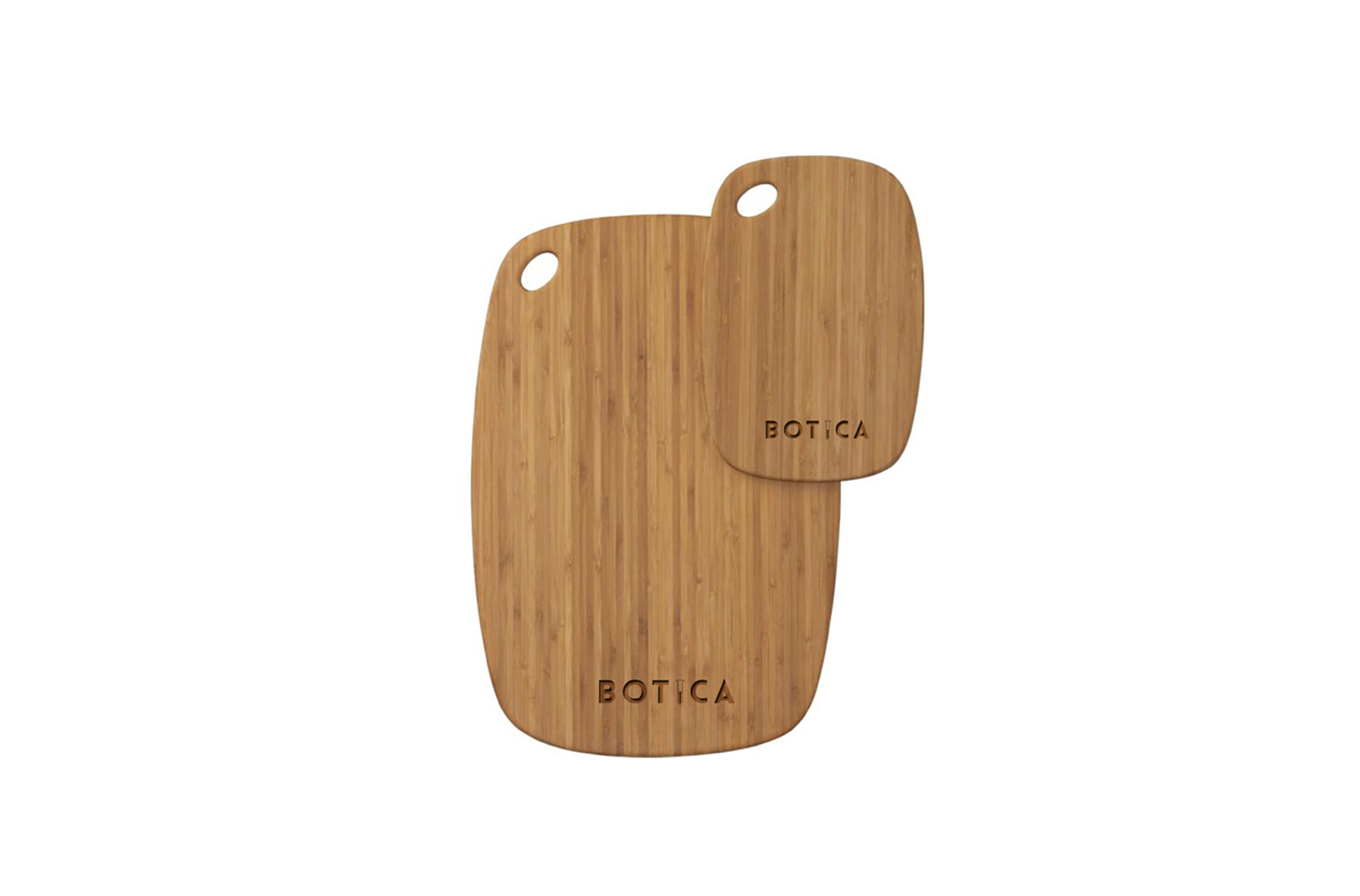 botica cafe branded chopping boards