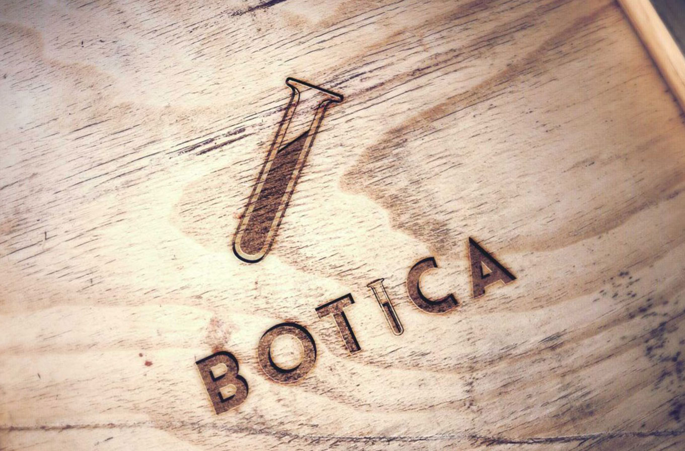 botica cafe branded chopping board
