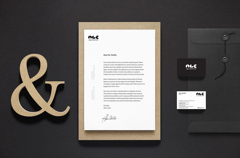 ag construct letter head design