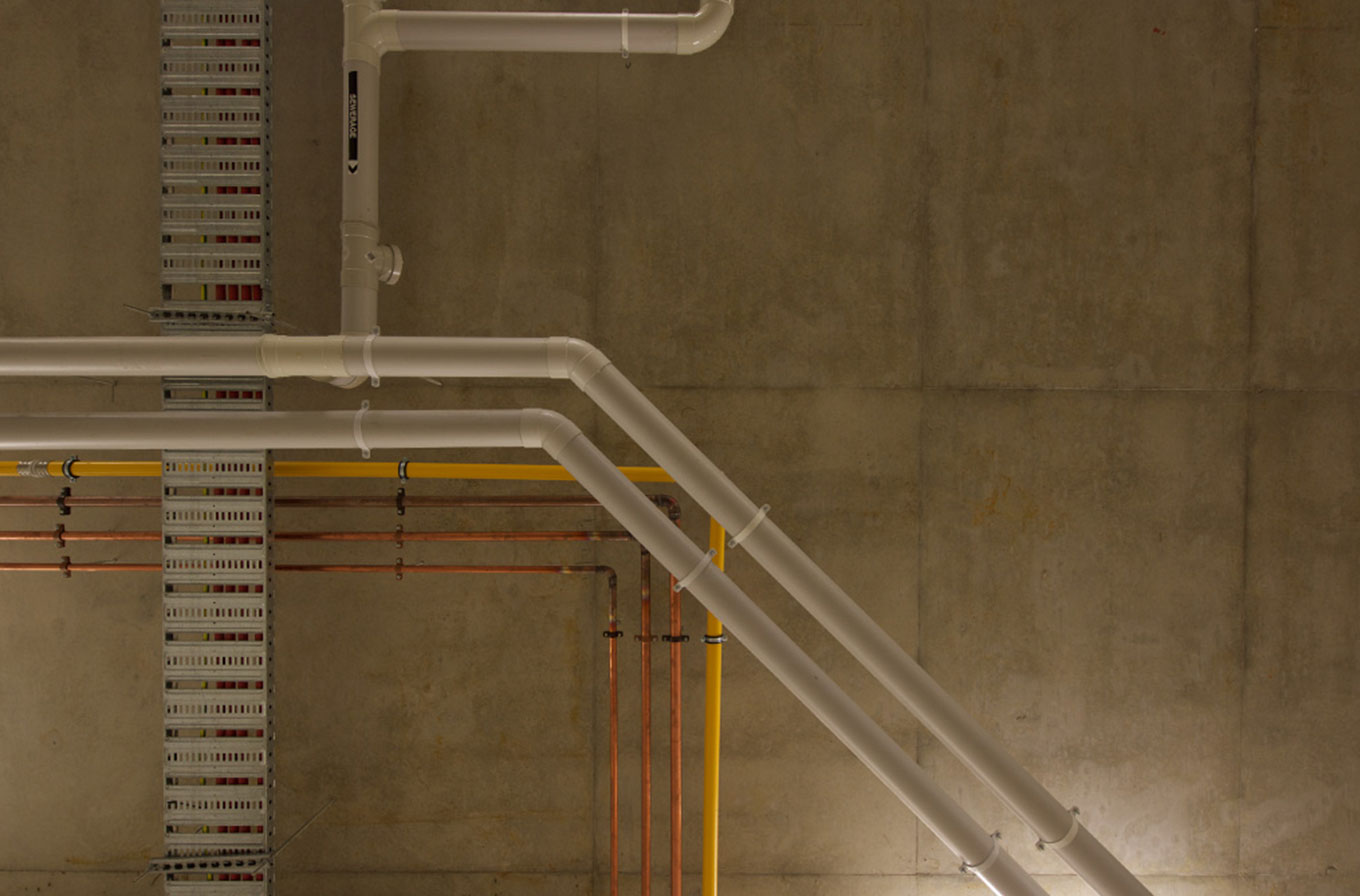 photography of construction pipes