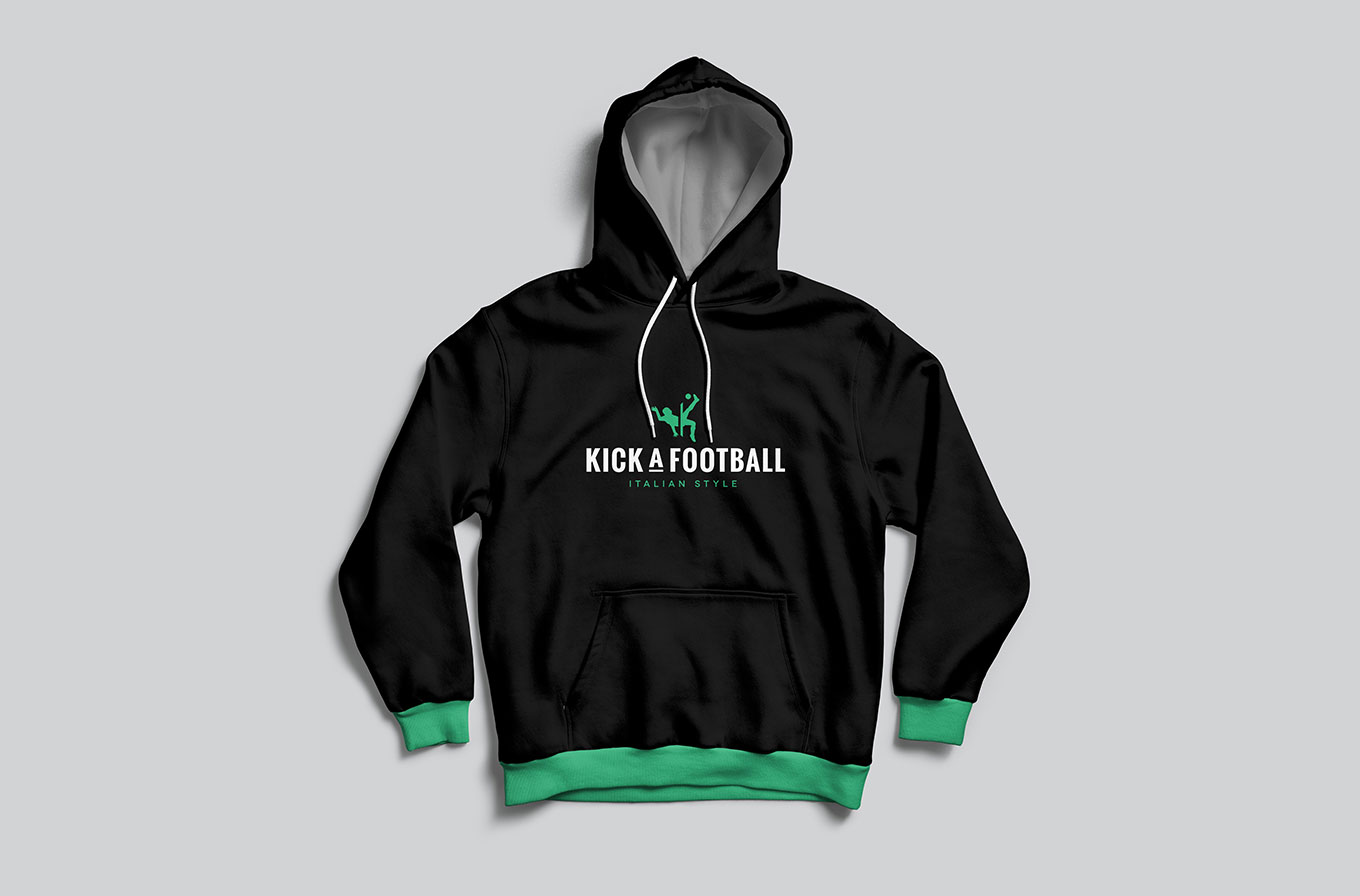 kick a football jumper merchandise design