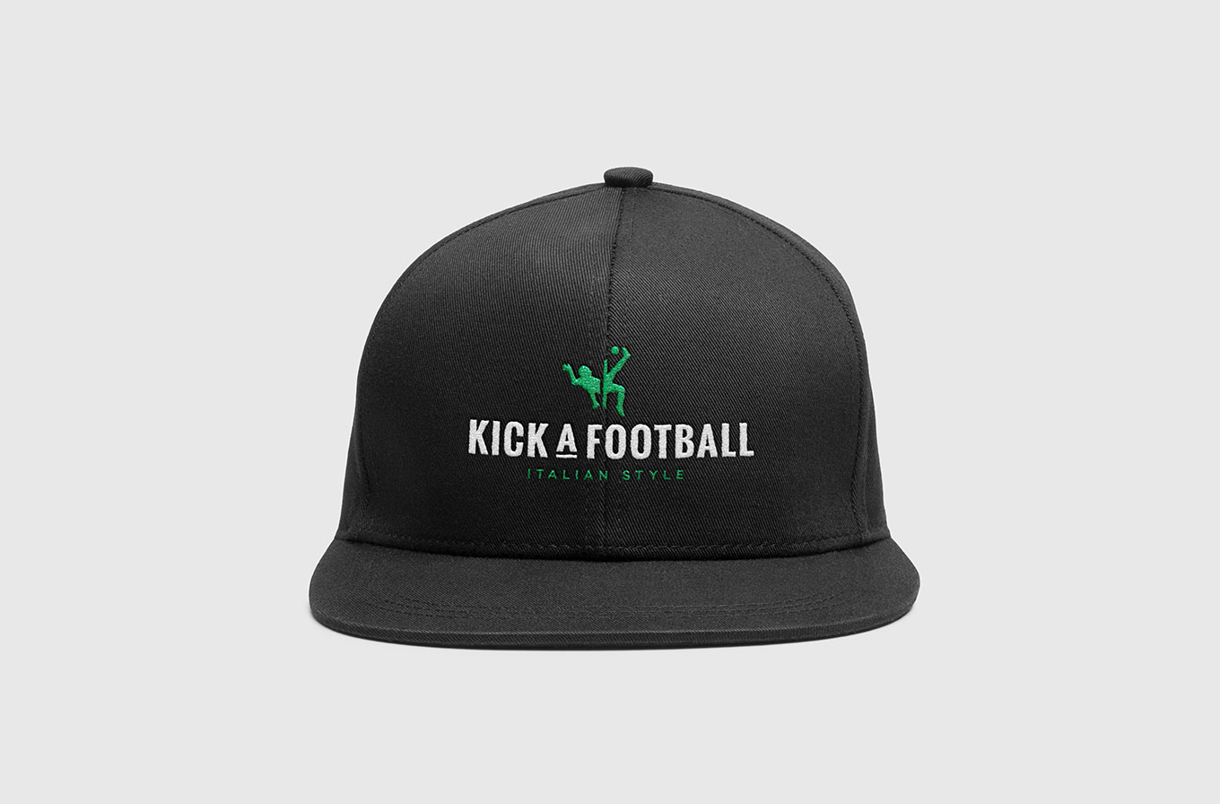 kick a football cap merchandise design